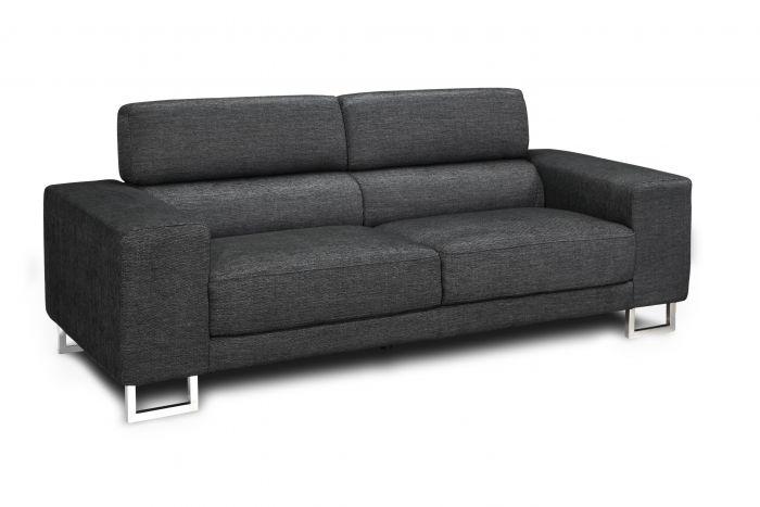3 zits bank birmingham zwart meubels heuts.nl