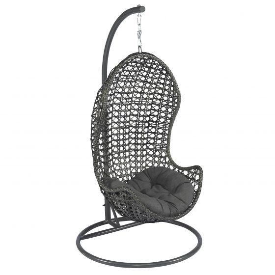 Hangstoel Swing Egg.Hangstoel Wicker Eclipse Donkergrijs Heuts