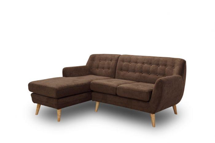 Zits hoekbank mayfair bruin links meubels online heuts