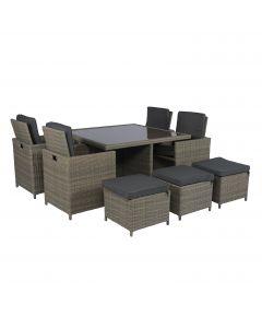 Pure Garden & Living Cube dining loungeset wicker grijs