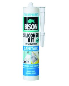 Bison Siliconenkit Sanitair Wit 310ml