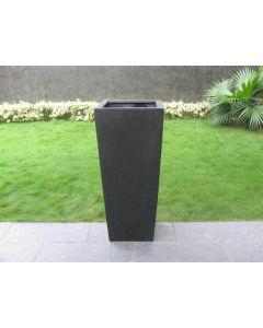 Terrazzo - Vaas Vierkant zwart 32x32