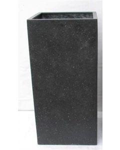 Terrazzo - Vierkant zwart 45x45x100