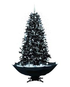 Sneeuwende Kerstboom Zwart