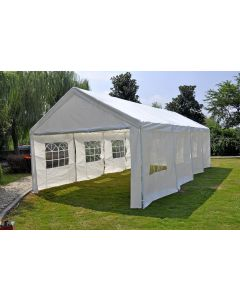 Partytent 4x8 meter deluxe wit met zijwanden Pure Garden & Living