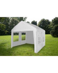 Partytent 4x4 meter wit met zijwanden Pure Garden & Living