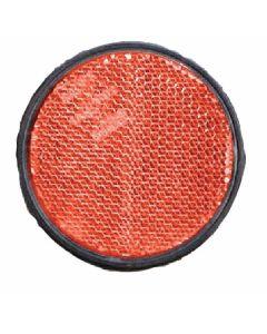 Reflector 60mm zelfklevend rood