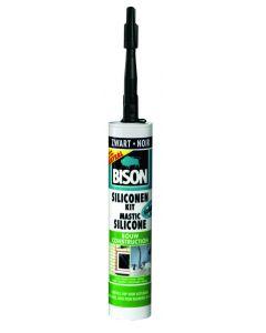 Bison Siliconenkit Bouw zwart 310ml