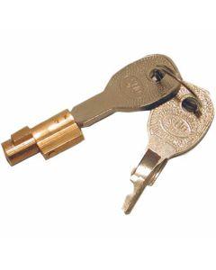 Steekslot koper inclusief 2 sleutels