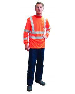 Fluo t-shirt lange mouw oranje XL