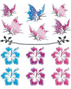 Vlinder & bloem sticker