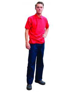 Poloshirt korte mouw rood XXL