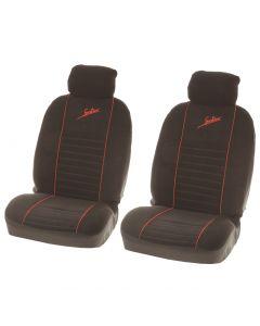 4-delige Speed Fire grijs/zwart stoelhoezenset
