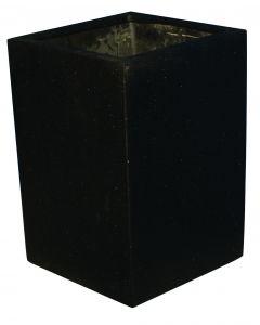 Terrazzo - Kubus hoog zwart 32x32x45