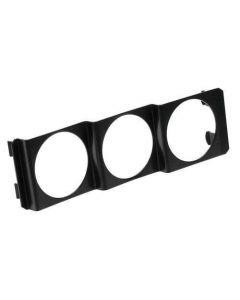 Plastic ABS meter houder 3 gaten 2''