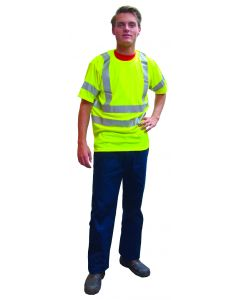 Fluo t-shirt korte mouw geel XL