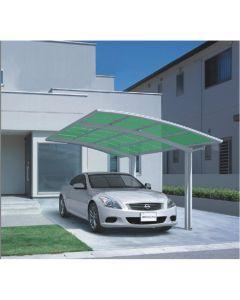 Carport aluminium Wit/groen