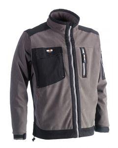 Herock Zeus Fleece jas grijs/zwart M