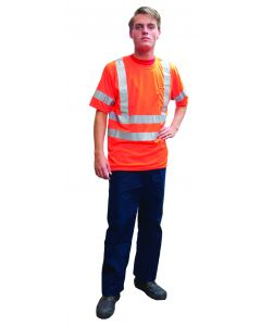 Fluo t-shirt korte mouw oranje XL