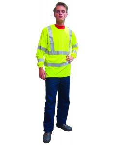 Fluo t-shirt lange mouw geel L