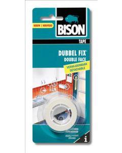 Bison Dubbel Fix wit 1.5mx19mm