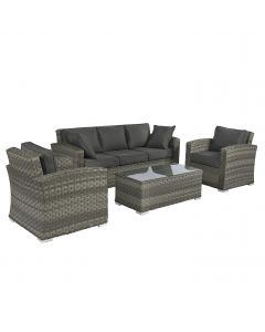 Elegant loungeset wicker grijs Pure Garden & Living