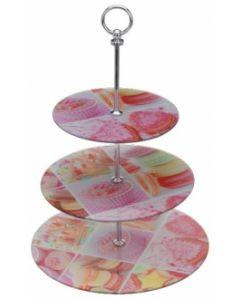 Etagère met 3 plateaus Cupcake
