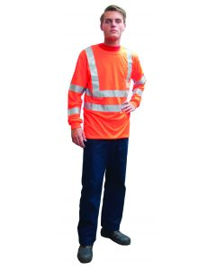 Fluo t-shirt lange mouw oranje L