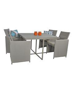 Pure Garden & Living dining loungeset taupe aluminium