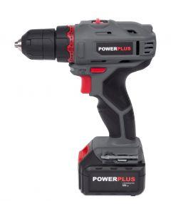 Powerplus snoerloze schroefboormachine 18V met 2 batterijen en lader