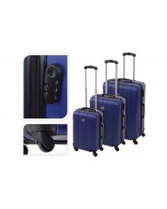 Koffer blauw - 35 liter