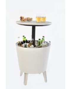Keter Coolbar, bijzettafel en koelbox in 1 - Wit met LED