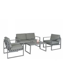 """""""Dubai"""" Loungeset Tuinset Aluminium - Grijs - Pure Garden & Living"""