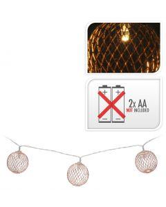 LED lampjes bal koper 5 cm
