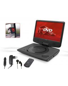 """Draagbare DVD speler met 10"""" monitor en ingebouwde batterij"""
