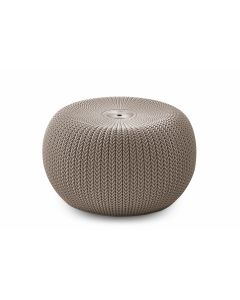 Poef / Hocker Keter Cozy Seat beige - Kunststof