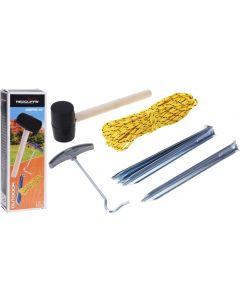 Campingset - haringen, touw en hamer