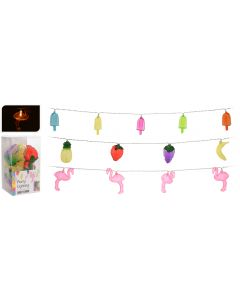 Feestverlichting Flamingo/ijs/fruit