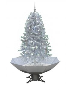 Sneeuwende Kerstboom Wit/Zilver