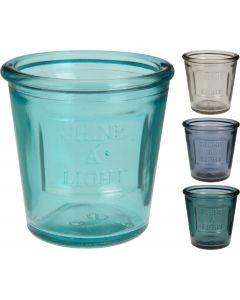 Theelichthouder glas 9cm