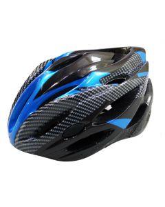 Fietshelm alround L zwart/blauw