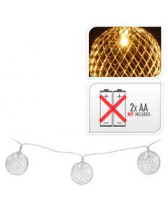 LED lampjes bal zilver 5 cm