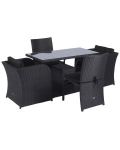 Loungeset balkon dining loungeset wicker Pure Garden & Living