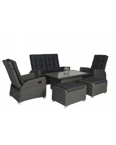 "Wicker Relax Dining & Loungeset ""Ludo"" - Antraciet - Pure Garden & Living"