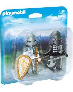 Playmobil Duopack zwarte en zilveren ridder - 6847