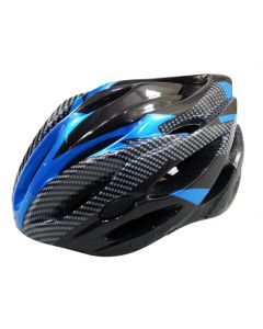 fietshelm allround M zw/blauw