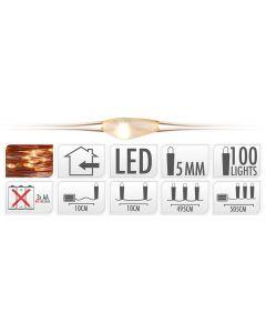 Ledverlichting 100 lampjes warm wit