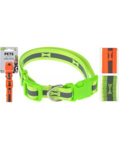 Hondenhalsband middel neon