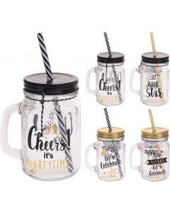 Drinkglas met handvat