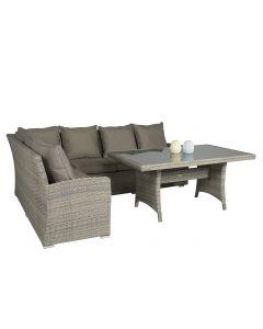 "Dining Loungeset Wicker ""Sahara"" Beige/Grijs - Pure Garden & Living"